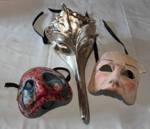 Masques de la Bradamante créés spécialement par un artiste vénitien Il canovaccio