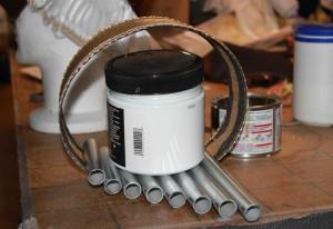 Fabrication des tuyaux de l'organetto.