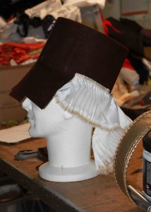 Chapeau en feutre de Mouflet représentant un organetto.